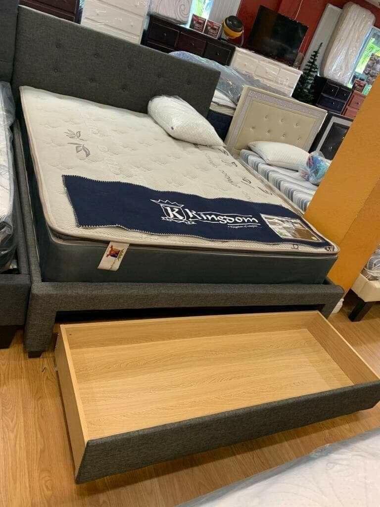 Brand New bed storage frame with mattress queen size