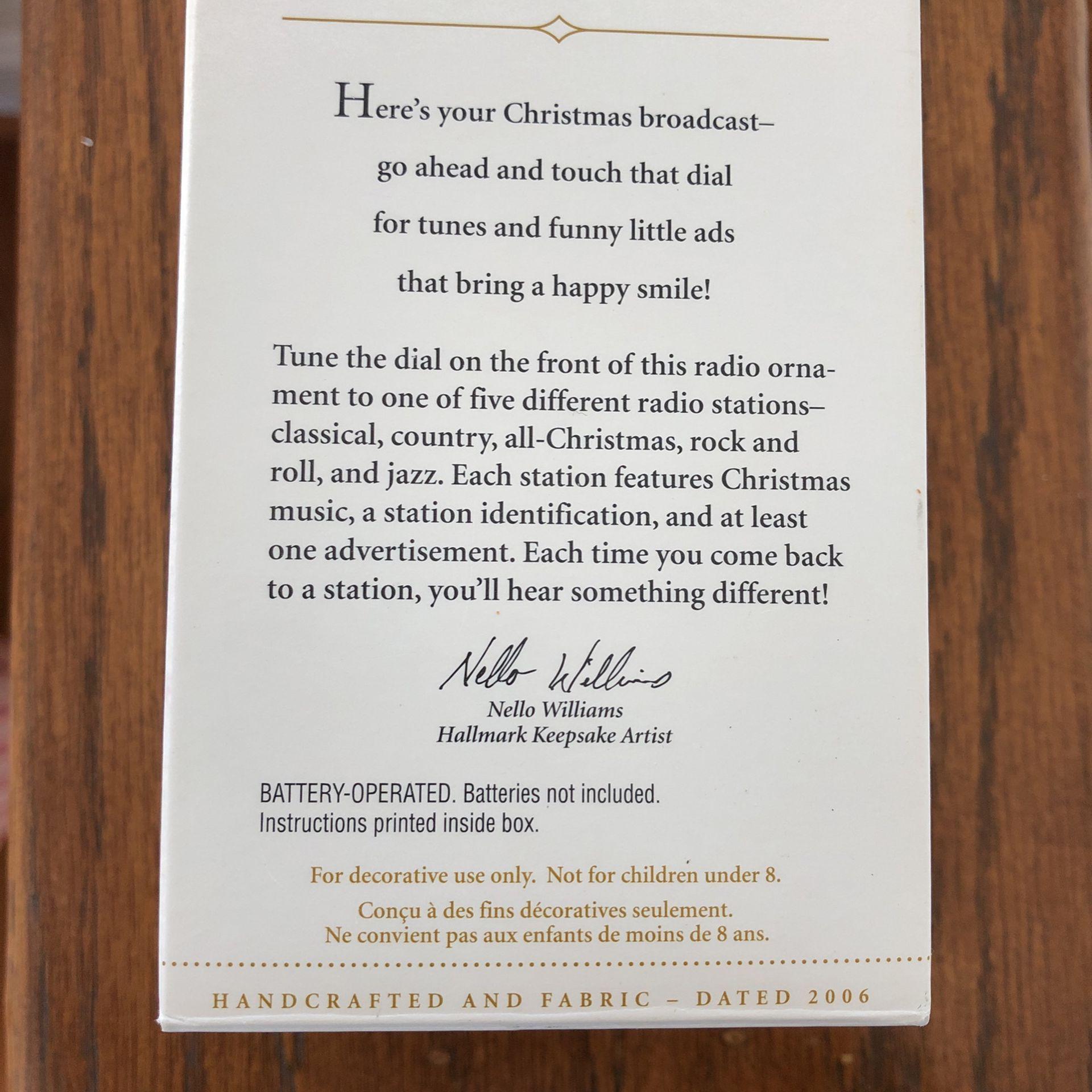 Hallmark KEEPSAKE A Christmas Broadcast