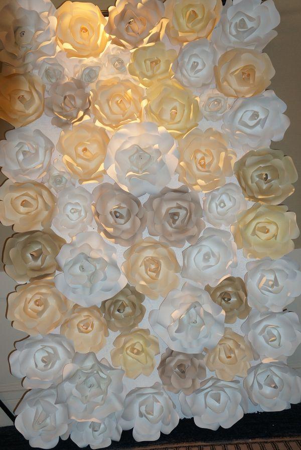 Paper flower wall for sale in pleasanton ca offerup mightylinksfo