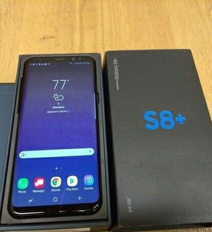 Samsung  Galaxy S8 + Factory Unlocked + box and accessories + 30 day warranty for Sale in Fairfax, VA