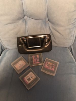 Hand held sega portable game gear with four games for Sale in Herndon, VA