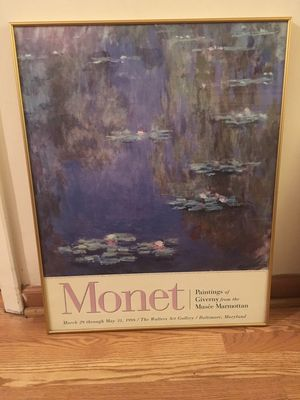 Monet 1998 Walters Art Gallery Museum Framed Art Poster for Sale in Baltimore, MD