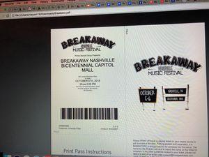 Tickets to Breakaway Festival for Sale in Nashville, TN