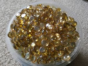 Decorative glass marbles - gold, yellow and light tones for Sale in Falls Church, VA