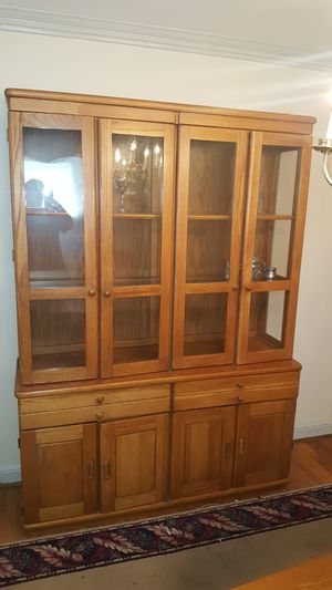 Moving sell - - - Dining set of 6 chairs and china cabinet for Sale in Glen Burnie, MD