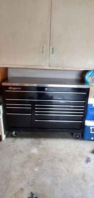 Photo Snap on 55 10 Drawer Double-bank Classic Tool box W/ Stainless steel top
