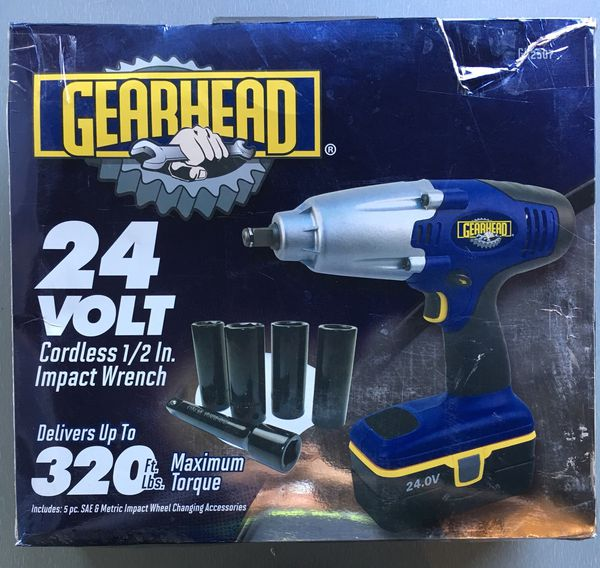 Gearhead 24 Volt Cordless 1 2 Impact Wrench Gh2507