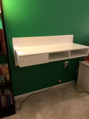 Floating Computer Desk Table - Wall Mounted (White) for Sale in Falls Church, VA