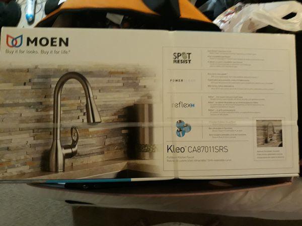 Moen Kleo Single Handle Pull Down Kitchen Faucet For Sale In Menifee