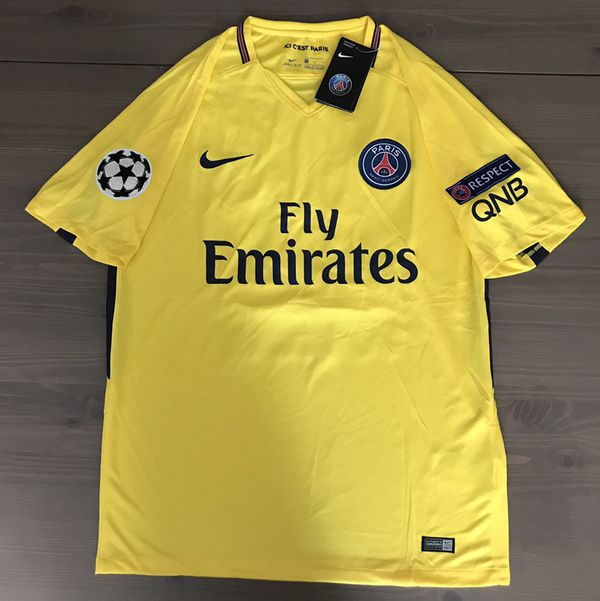 new product 753b4 6b858 PSG away Yellow Neymar Jr. #10 soccer jersey champions league 17/18 for  Sale in Miami, FL - OfferUp
