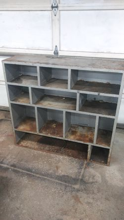 Steel storage unit shelf Thumbnail