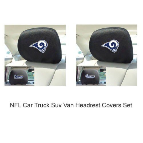 NFL Los Angeles Rams Car Trucks Embroidery Headrest Covers Set Of