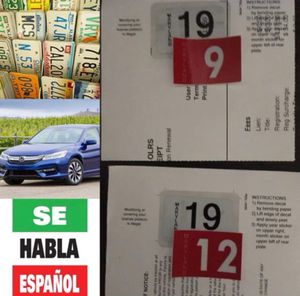 STICKERS/TEMP TAGS/INSPECTION (ESPAÑOL&ENGLISH) for Sale in Silver Spring, MD