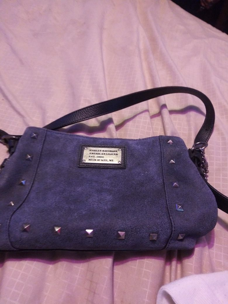 Super cute navy blue Harley Davidson crossbody