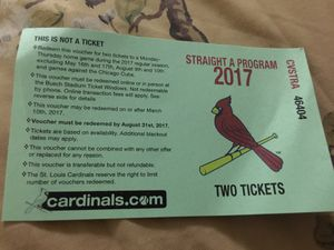 2 Cardinal tickets for Sale in St. Louis, MO