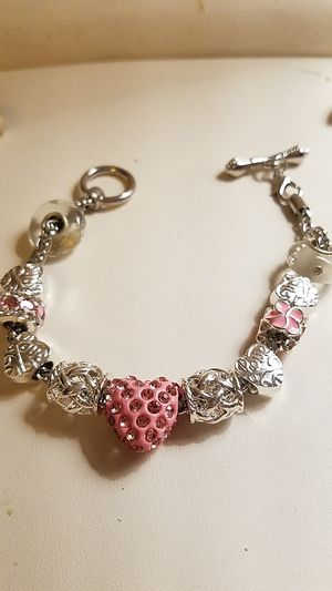 Charm bracelet with heart shaped charm for Sale in Auburn, WA