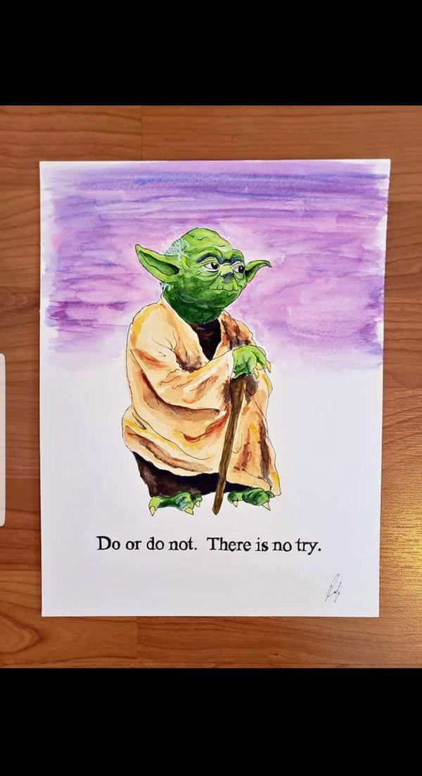 Star Wars Yoda Painting Original Local Artist For Sale In Miami Fl
