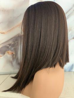 Brown Angle Bob Lace Front Wig  Thumbnail