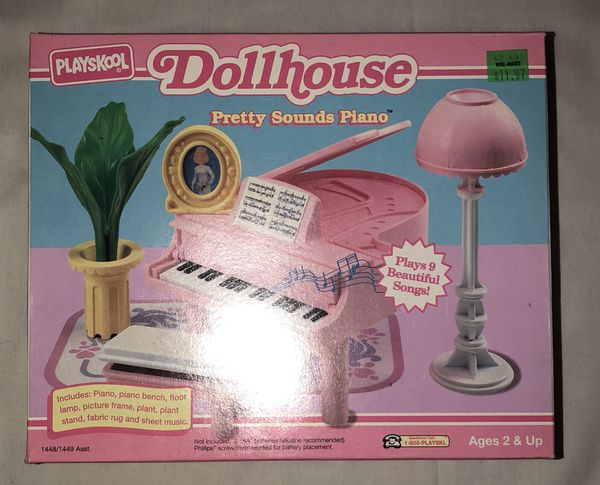 Vintage 1993 Playskool Dollhouse Pretty Sounds Piano New Never