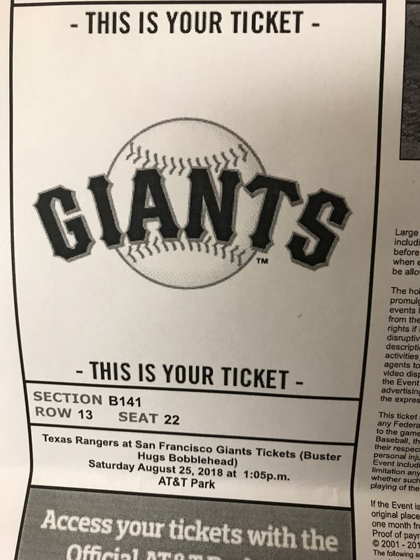 Sf Giants Home Tickets For Sale In Sparks Nv Offerup