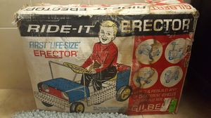 Photo Gilber Ride it Erector life size car Vintage