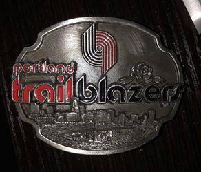 Portland Trail Blazers belt buckle NEW!! Thumbnail