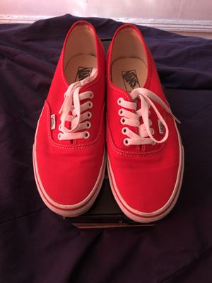 Red Vans ( Worn 4-5 Times ) for Sale in US