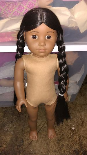 Photo Pleasant Company Vintage Native American Doll