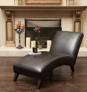 Brown faux leather chaise for Sale in Hyattsville, MD