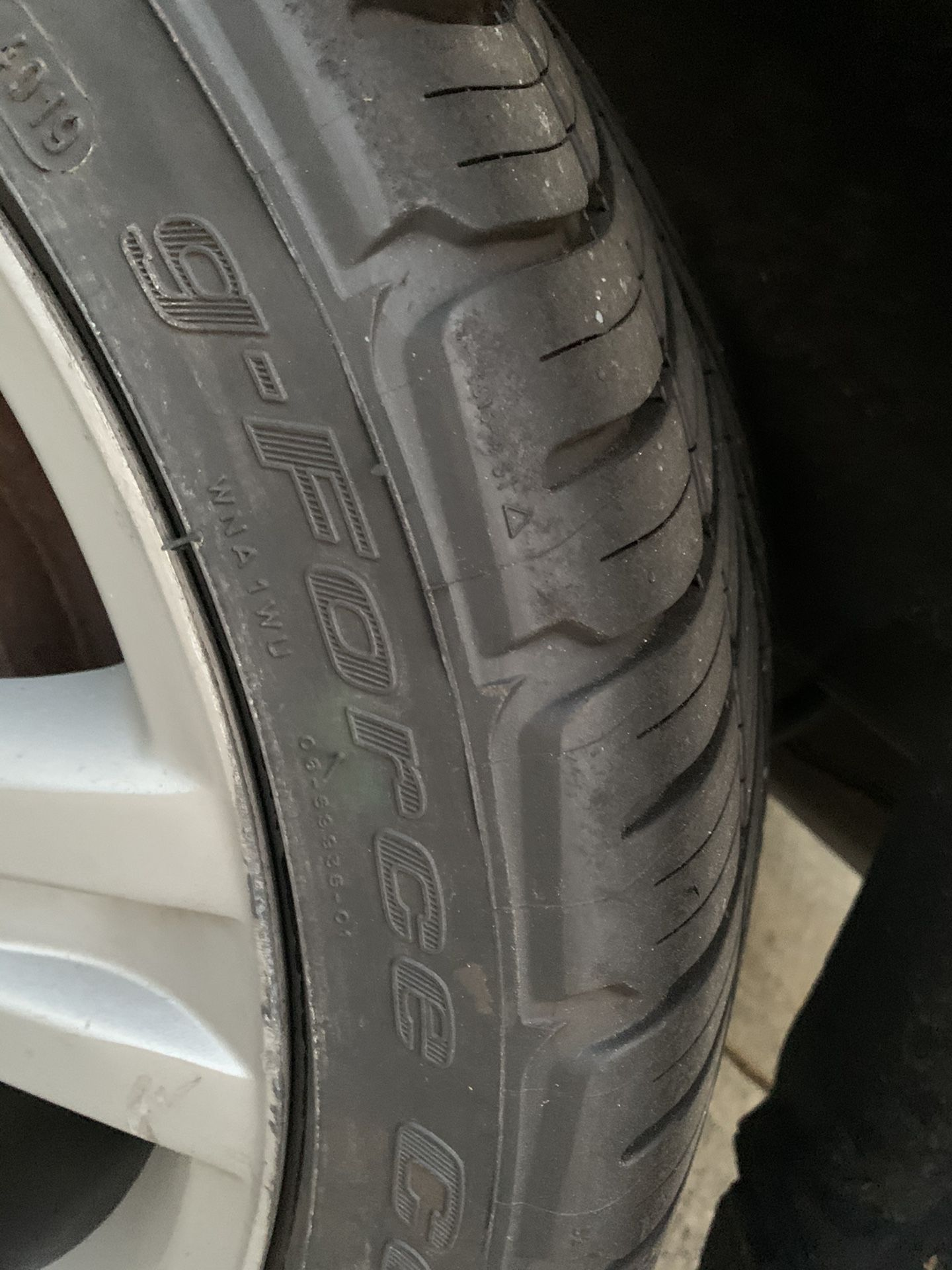 215/45 17 Tires 75% Tread
