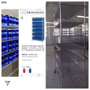 7 foot wire rack with bins for Sale in San Francisco, CA