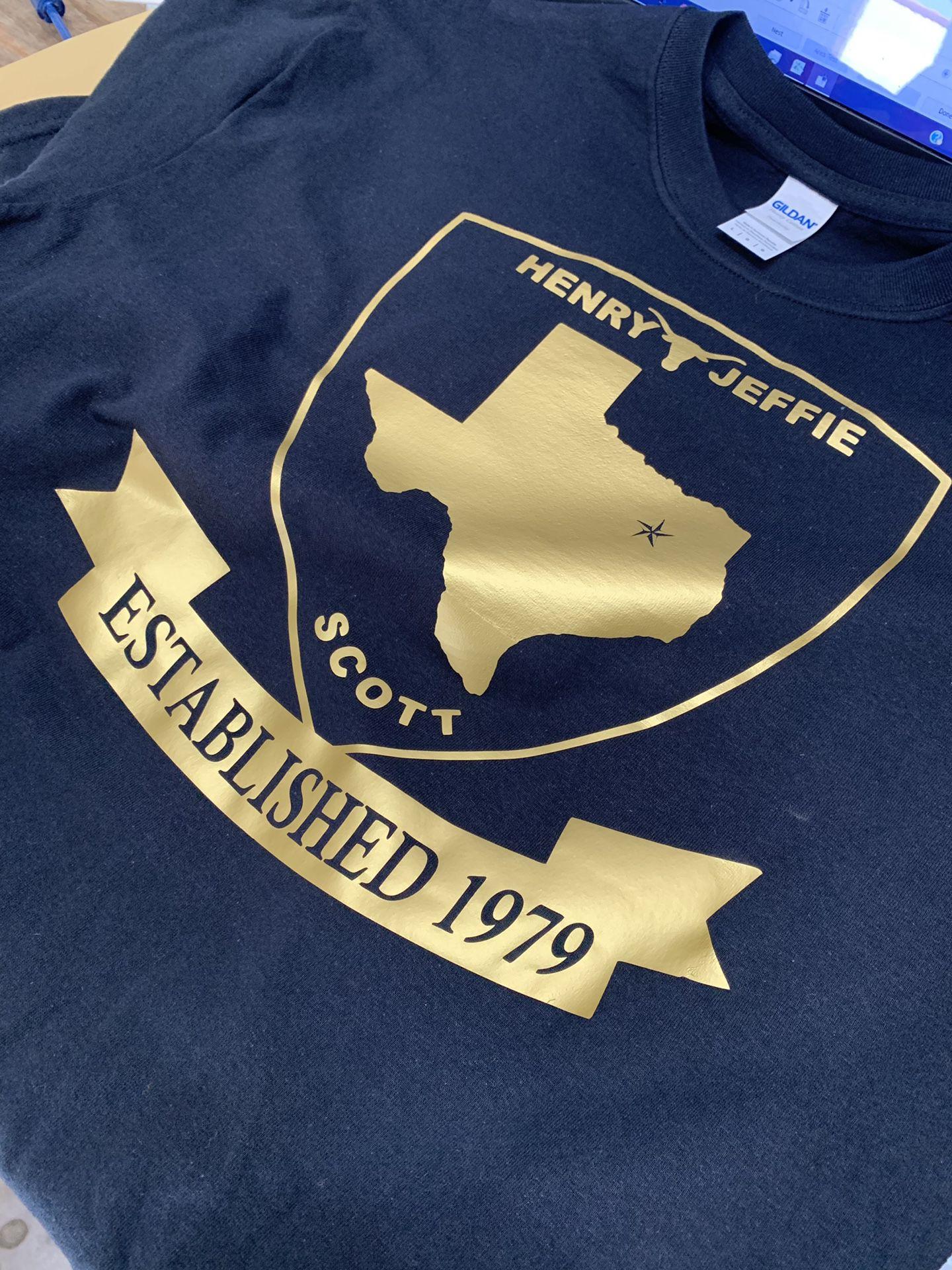 1 color T-shirt's