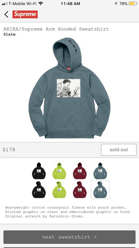 f0495259c796 ... Open in the AppContinue to the mobile website  supreme akira アキラ コラボ  arm hooded ...