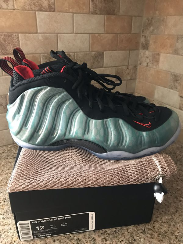 "reputable site 08d66 f0b1e Nike Air Foamposite One Premium ""Gone Fishing"" 575420-300 Mens Sz 12"