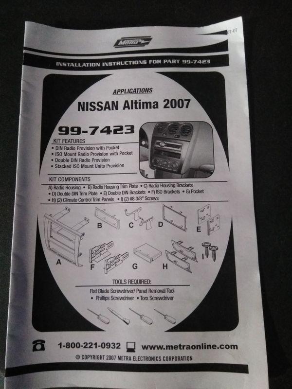 2007 altima radio kit