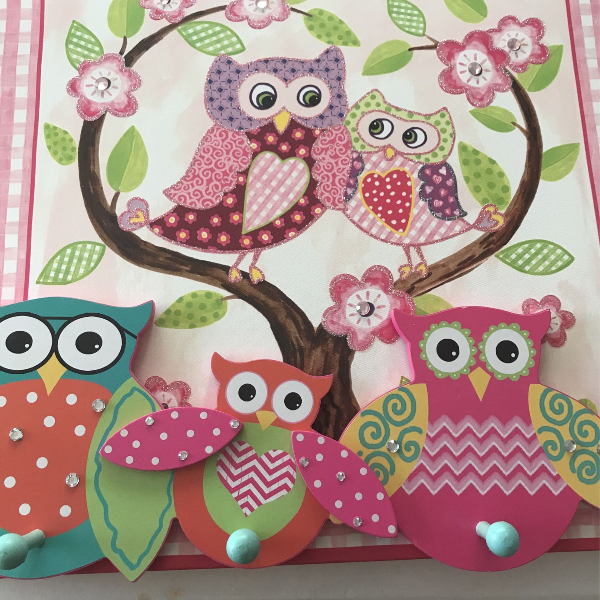 Owl Picture With Hanger