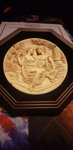 New in box 1988 Greek mythology marble collector plate Thumbnail