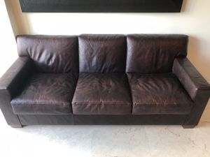 Real Genuine Leather Couch for Sale in Miami, FL
