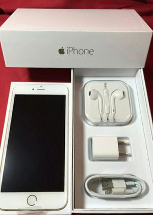 IPhone6+ Factory Unlocked + box and accessories + 30 day warranty for Sale in Fairfax, VA