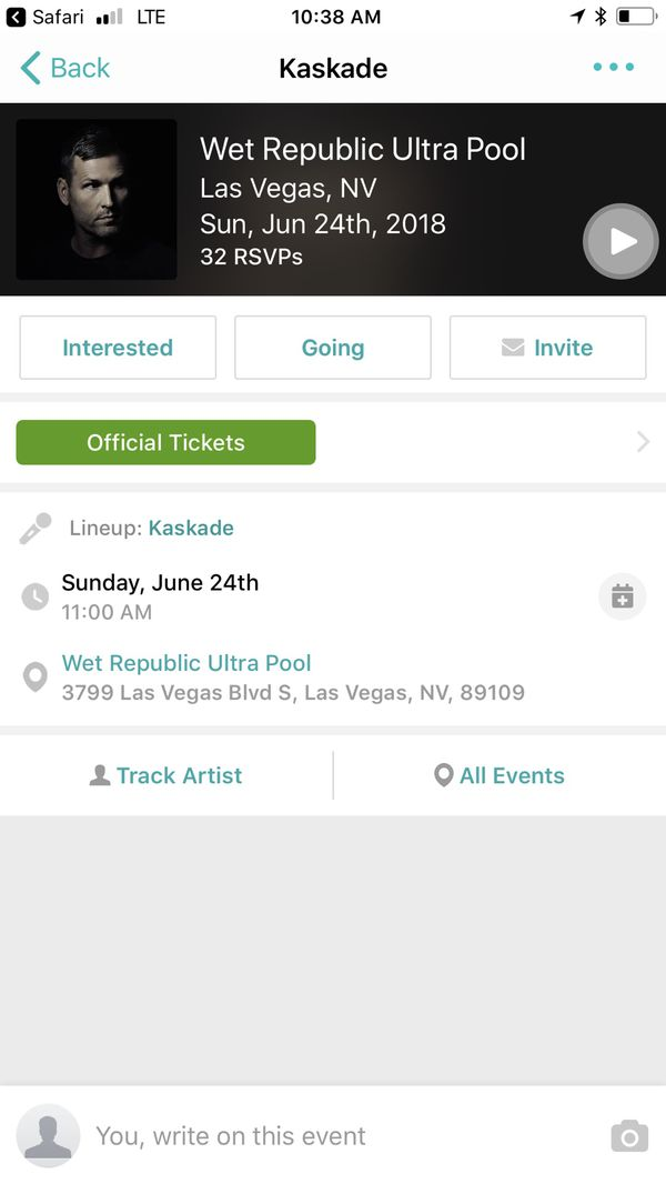 Offerup Las Vegas >> Kaskade ticket wet republic for Sale in Las Vegas, NV - OfferUp