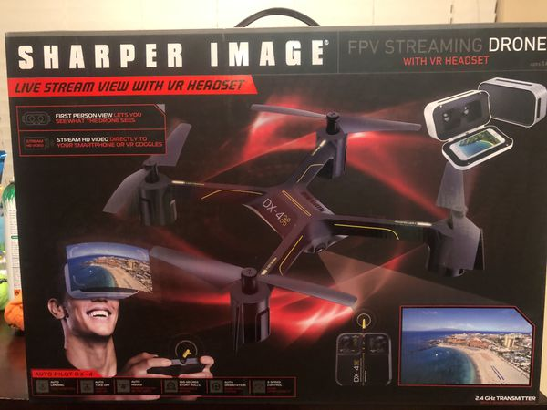 Brand New In Box Sharper Image Fpv Streaming Drone Live Stream