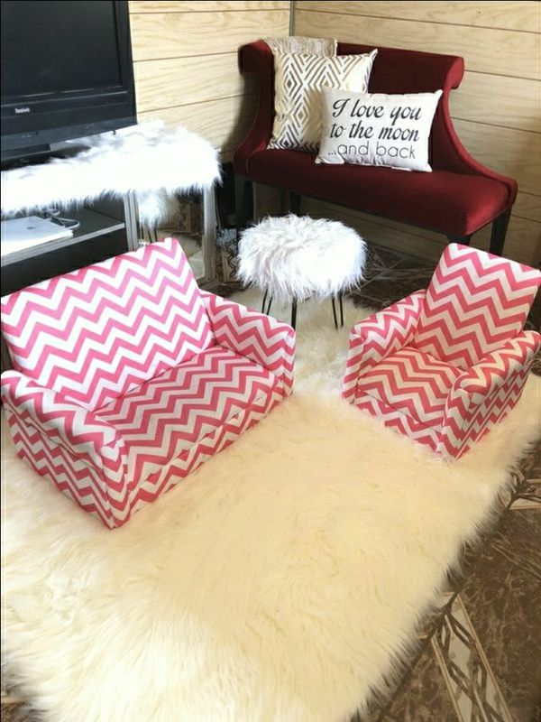Infants sofa set pink & white for Sale in Las Vegas, NV - OfferUp
