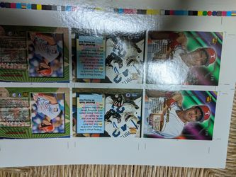 Pacific trading cards, uncut insert foil cards Thumbnail