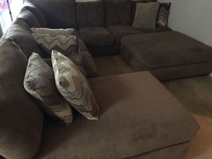Big Comfy Couch w/Ottoman *I Accept Bitcoin* for Sale in Apex, NC