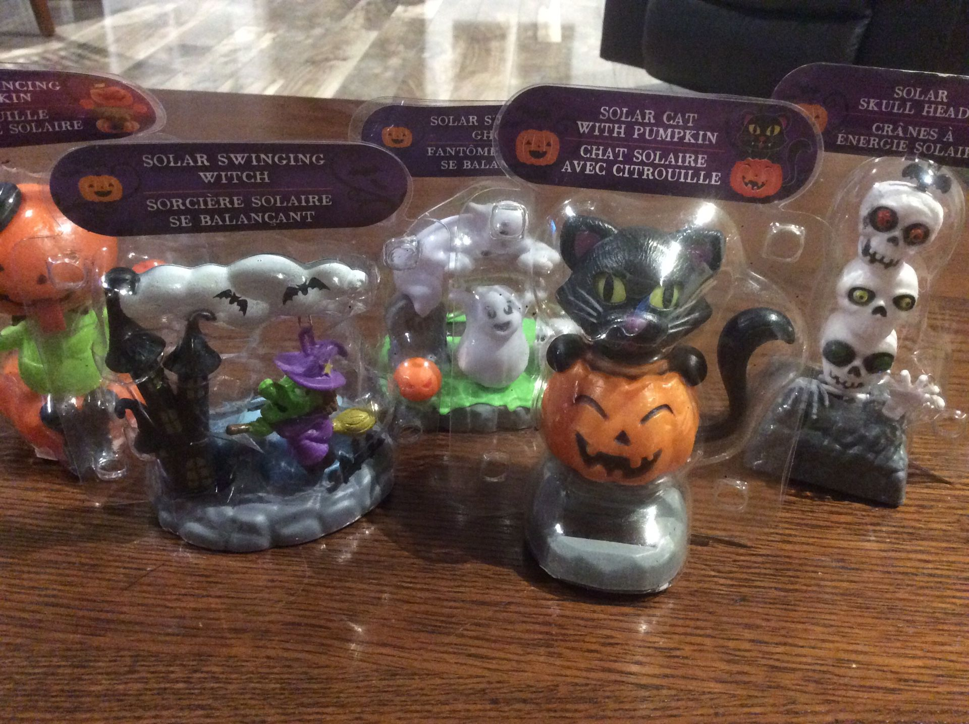 Brand new solar Halloween characters, set of five all different