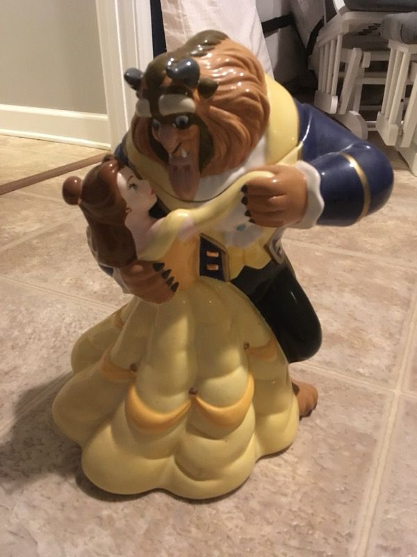 Extremely Rare Collectible Beauty And The Beast Cookie Jar For Sale
