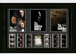 The Godfather Trilogy framed film cell & movie photo montage for Sale in St. Louis, MO