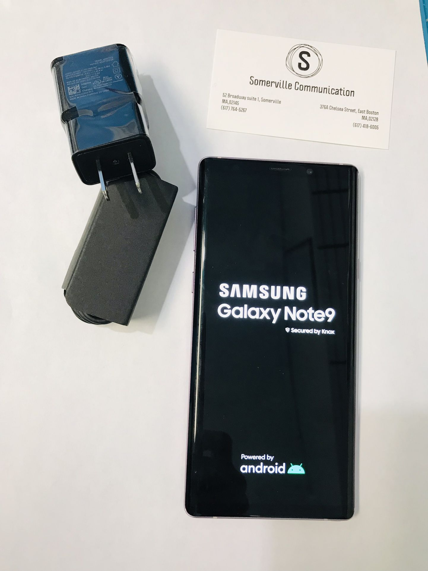 Samsung Galaxy note 9 (128 gb) unlocked with store warranty