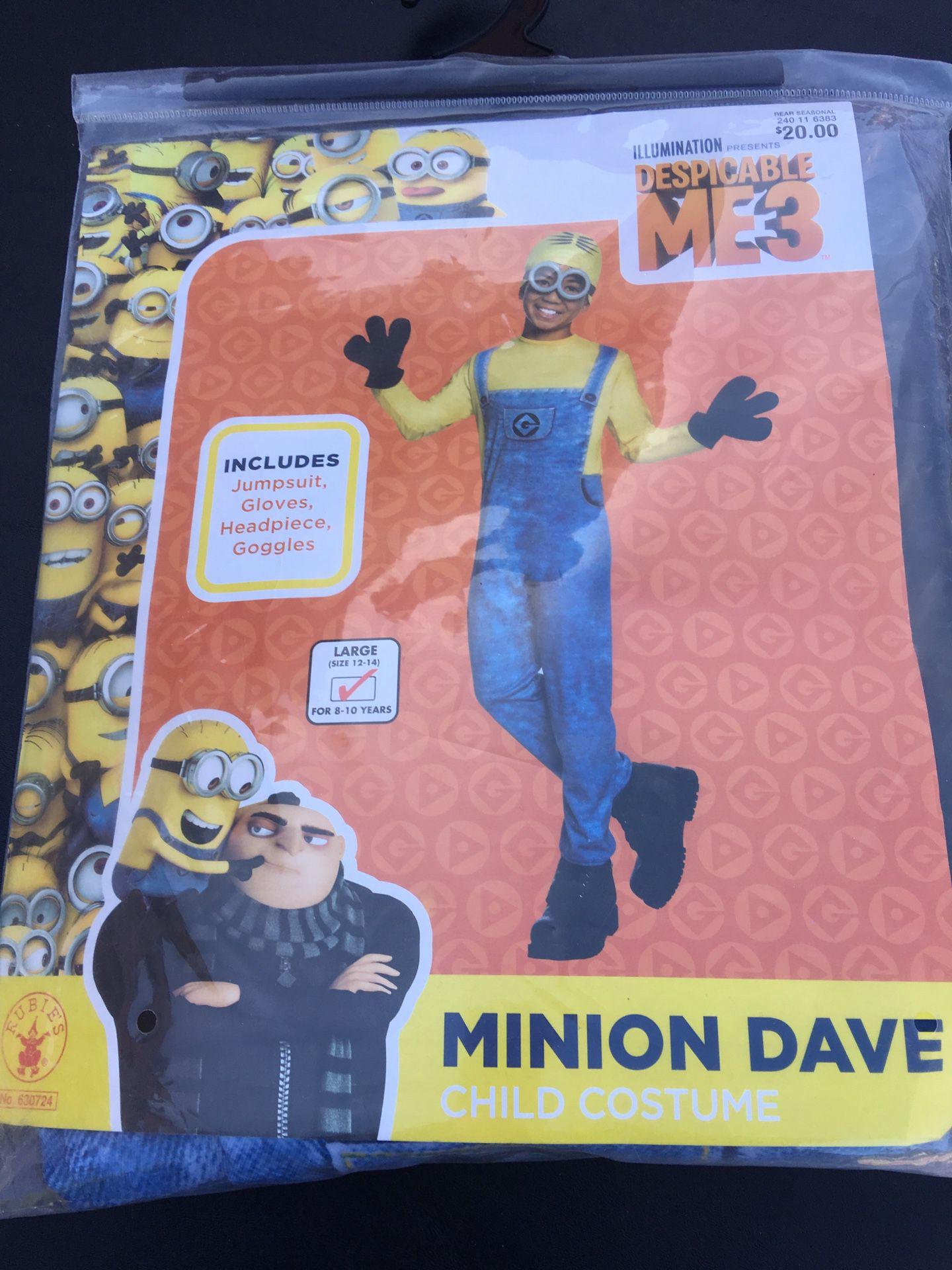 New Minion Dave Despicable Me costume 8 10 12