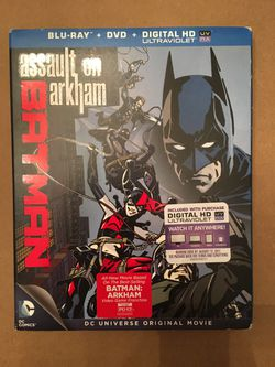 Batman: Assault on Arkham Blue Ray & DVD animated movie Thumbnail